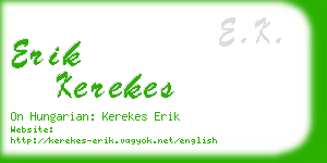 erik kerekes business card